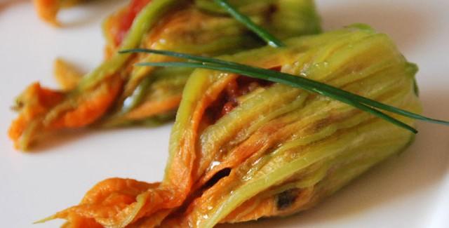 Farci archives je cuisine mon potager - Fleurs de courgettes au four ...