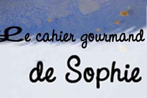 Cahier Gourmand de Sophie