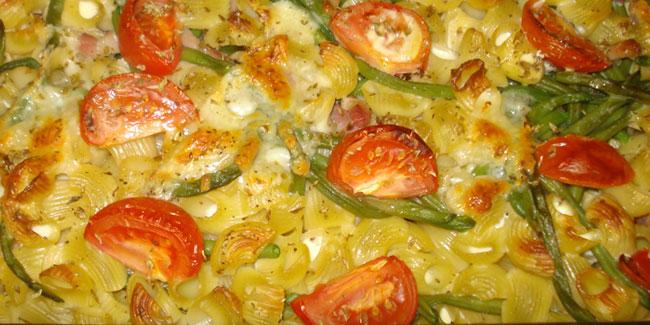 Gratin de p tes aux haricots verts je cuisine mon - Cuisiner des haricots beurre ...