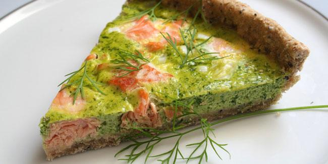 Tarte saumon et fanes de radis