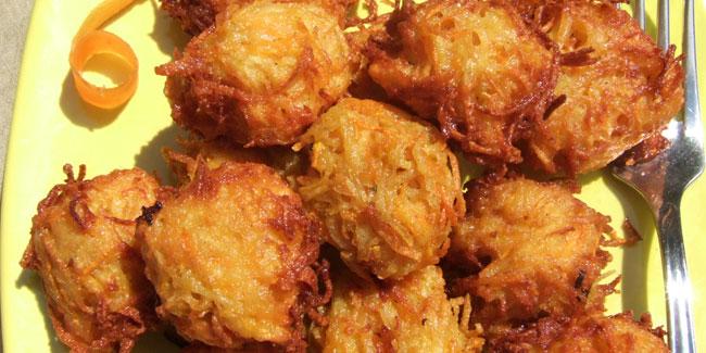 Beignets de pommes de terre à la carotte