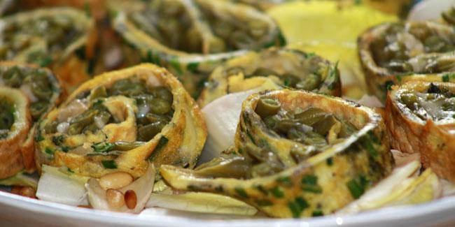 Rotolo aux haricots verts en salade