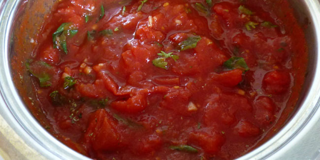Sauce tomate (à l'italienne)