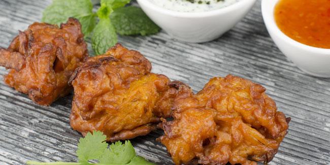 Onion bhaji (beignets d'oignon)