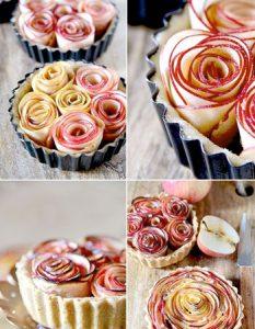 Découvrez des recettes et idées culinaire pour des moments de fête et de partage entre amis lors d'un l'apéro. tarte fleur pomme