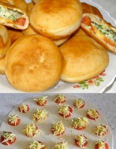 Découvrez des recettes et idées culinaire pour des moments de fête et de partage entre amis lors d'un l'apéro. pain farçi tomate basilic persil fromage