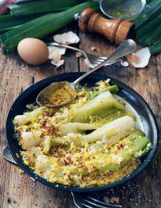 Un poireau vinaigrette ! Elaborer des recettes végétariennes (végan) à partir des produits du potager, légumes et les fruits, souvent qualifiées de recettes minceur.