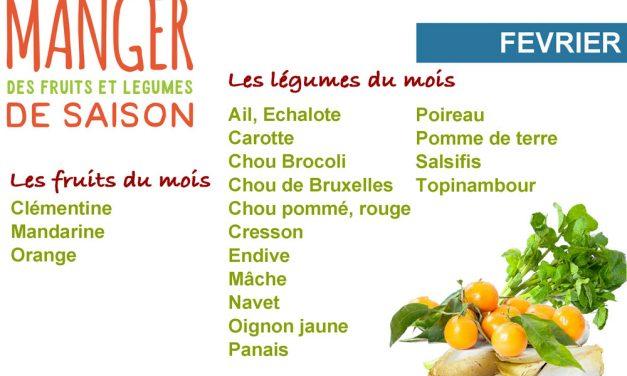 Cuisiner les fruits et légumes de saison et locaux du mois de février