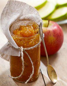 confiture de pomme. Des recettes de conserves pour les légumes et fruits de votre potager et de votre verger : lacto-fermentation, stérilisation, sel, sucre, huile, vinaigre