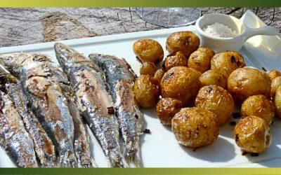 Sardines de Croix-de-Vie et pommes de terres primeurs de Noirmoutier