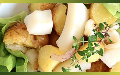 Seiche en salade et pommes de terre primeur