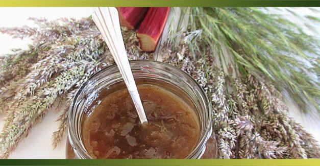Confiture de rhubarbe à la vanille