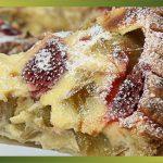 Recette-Tarte à la rhubarbe et aux fraises