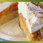 Recette-Gâteau à la rhubarbe meringué