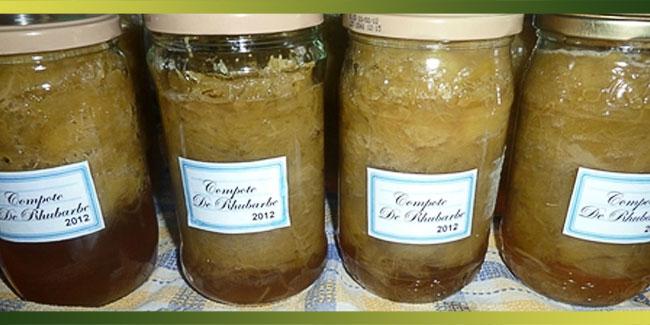 Rhubarbe en compote