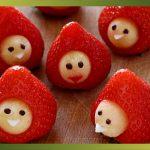 Recette-Petits bonhommes avec des fraises ?