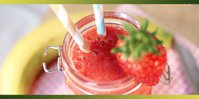 Smoothie Fraise Banane – 100% fruits
