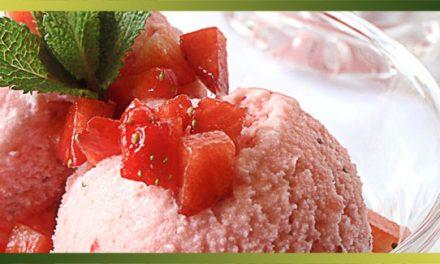 Yogourt glacé aux fraises