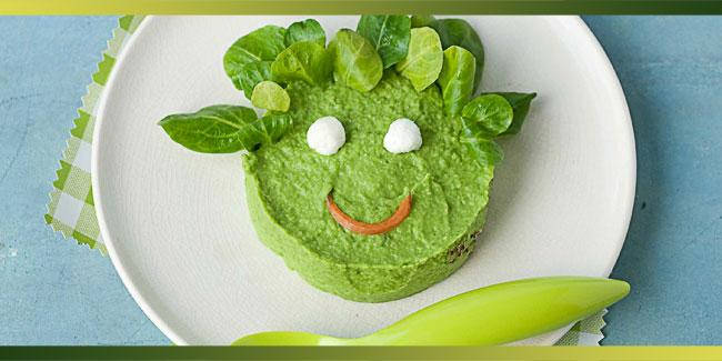 Purée de haricots verts et mâche