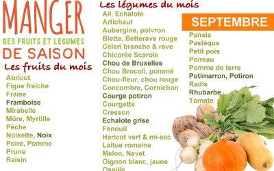 Cuisiner les fruits et légumes de saison et locaux du mois de septembre