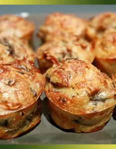Mini-cakes aux champignons et lardons