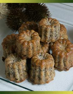 Minicannelés au poulet et aux champignons