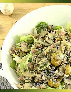Salade en chaud-froid aux châtaignes