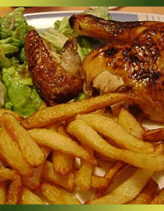 Poulet moutarde-miel et frites belges